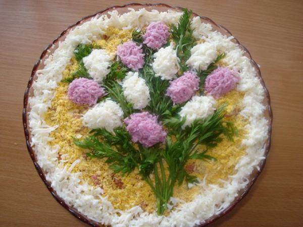 салат-букет украшение