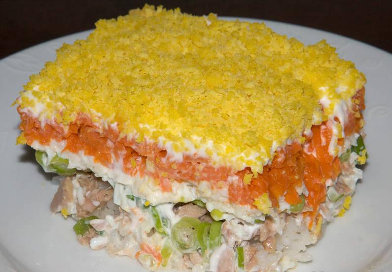 салат мимоза с кальмарами рецепт