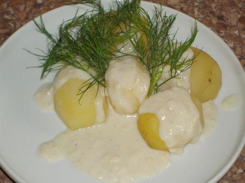 Изображение 5 – картофель с молочным соусом и зеленью