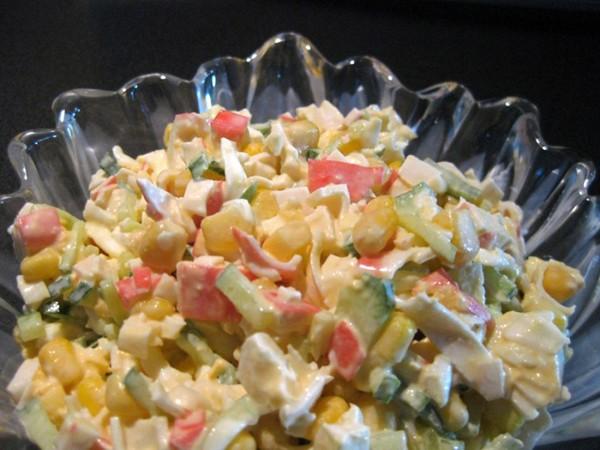 Необычный крабовый салат