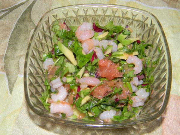 Второй вариант салата с авокадо