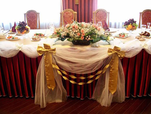 cервировка свадебного стола
