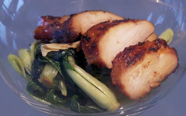 Куриное филе и китайская капуста