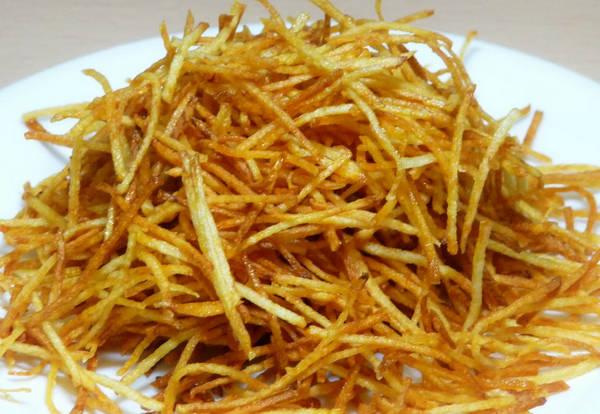 Красиво обжаренный картофель