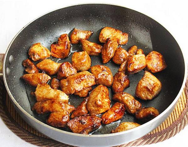 Обжаренное куриное филе