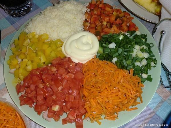 калейдоскоп салат с кукурузой рецепты