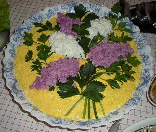 Салат_цветы_сирени_Salat_cvety_sireni