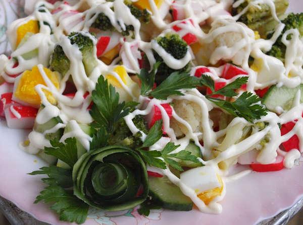 Салат крабовые палочки варианты