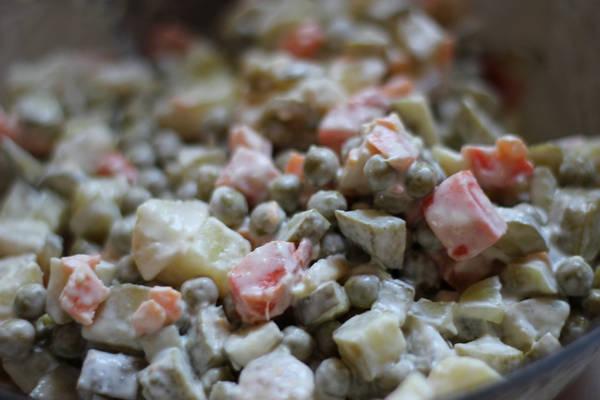 вегетарианский оливье фото рецепт