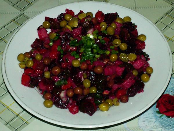 салат из курицы с шампиньонами консервированными рецепт