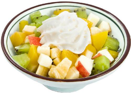 салат фруктовый с йогуртом и рецептом