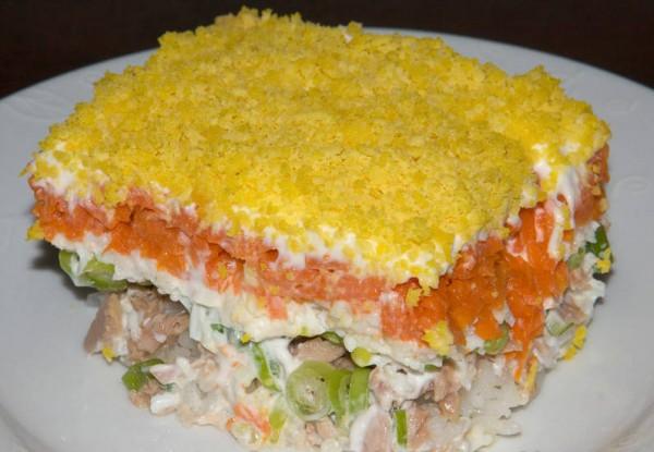 Готовый салат Мимоза