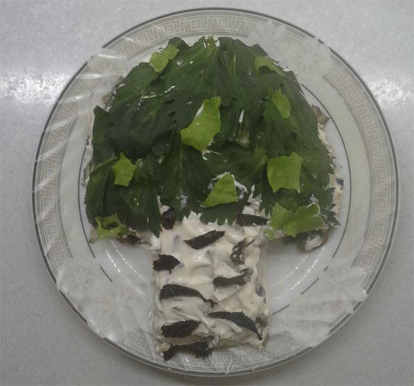 Салат белая береза с огурцом фото рецепт