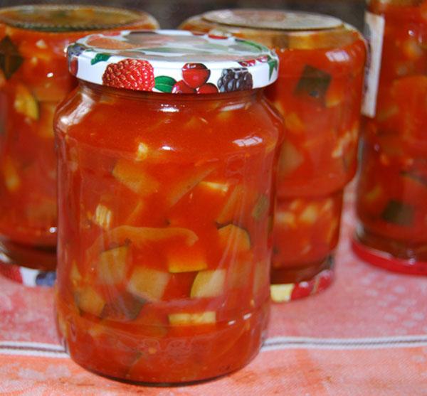 Салат из кабачков на зиму: