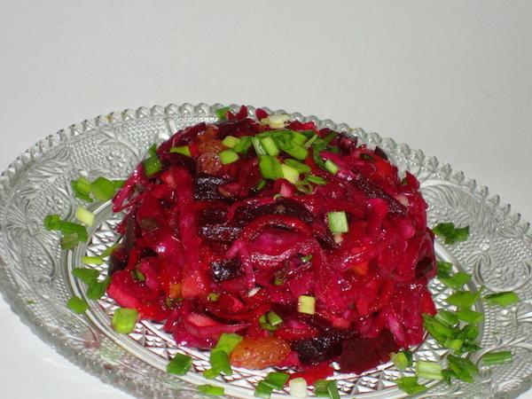 Салат из капусты с огурцом