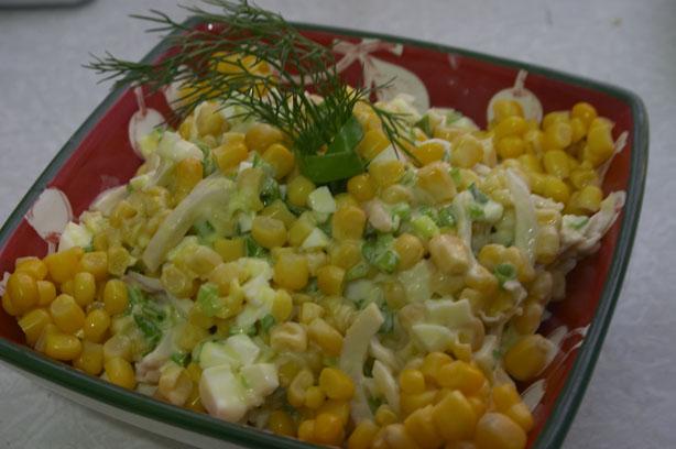 салат с кальмаром из банки рецепт
