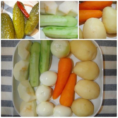 продукты для салата оливье