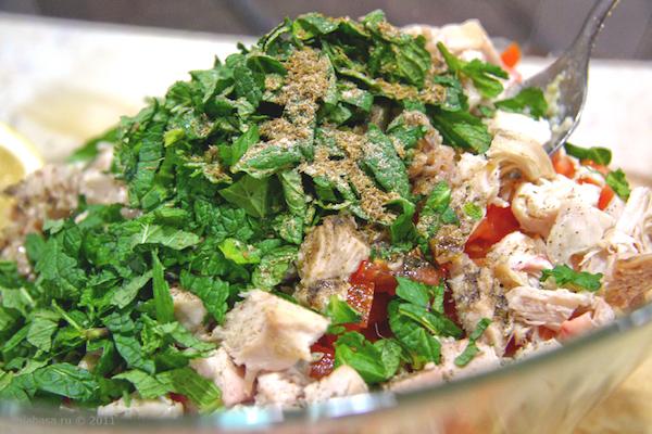 салат с кускусом