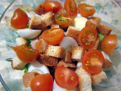 мелко нарезанные помидоры