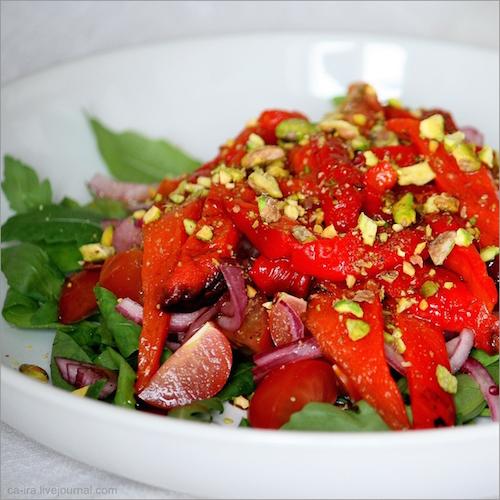 теплый салат летняя радуга