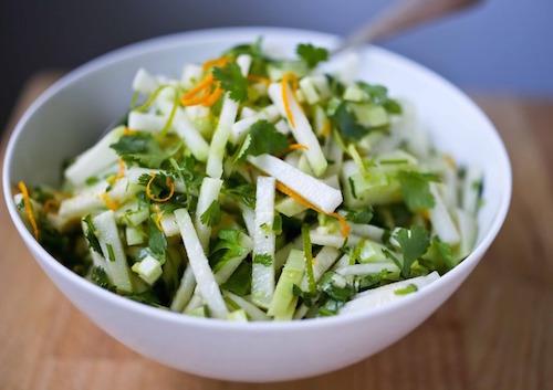 салат с лаймом апельсином и кольраби