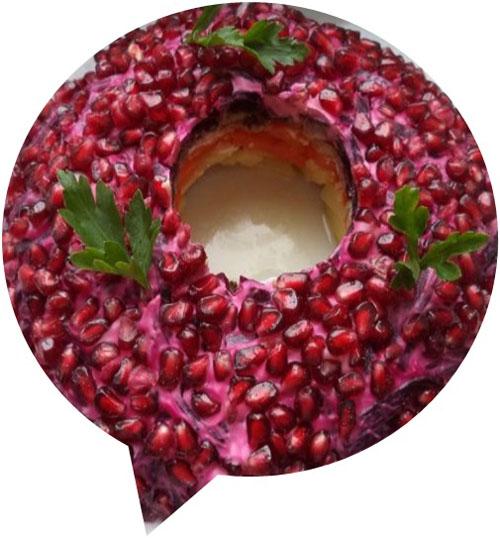 Салат «Гранатовый браслет»
