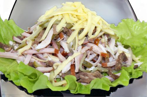 салат острый язычок