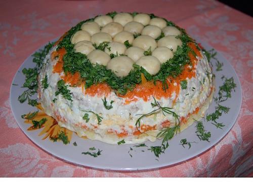 салат лесное чудо